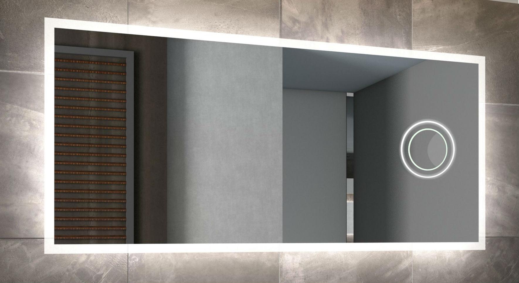 Picture of: Led Spejl Med Sort Ramme Model Milano Kob Pa Flottebade Dk