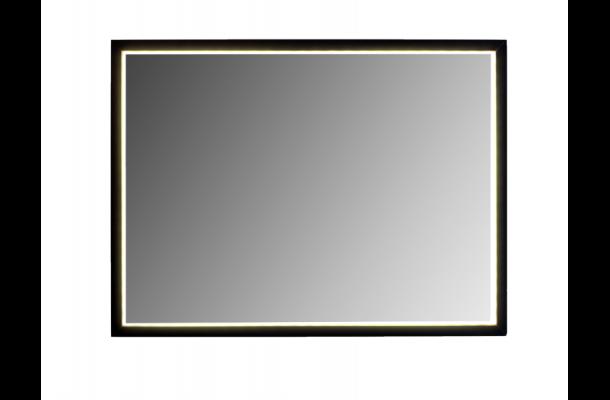 Velsete led spejl med sort ramme model milano, køb på flottebade.dk JW-24