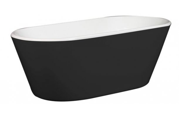 Lecia sort fritstående badekar 158x70 - Royal Bad & Spa