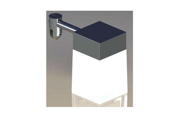 Kvadrat LED spejllampe